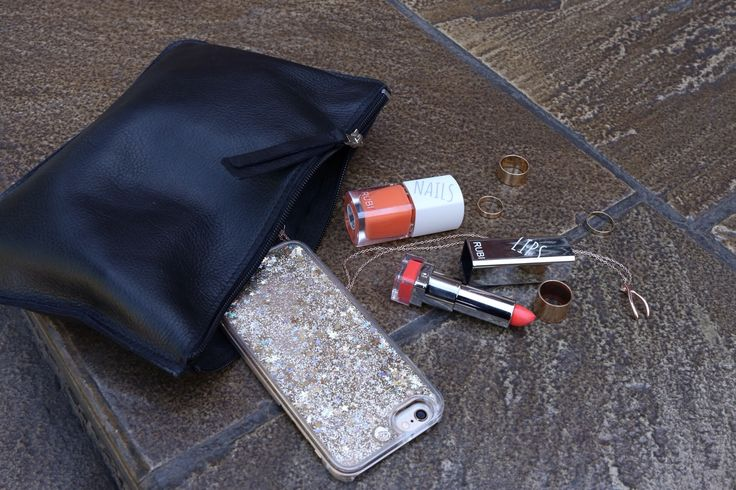 Bag spill - Love my Rubi by Cotton On Nail varnish and lipstick.