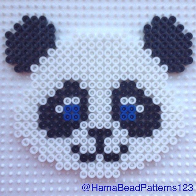 Hama bead Panda by hamabeadpatterns123