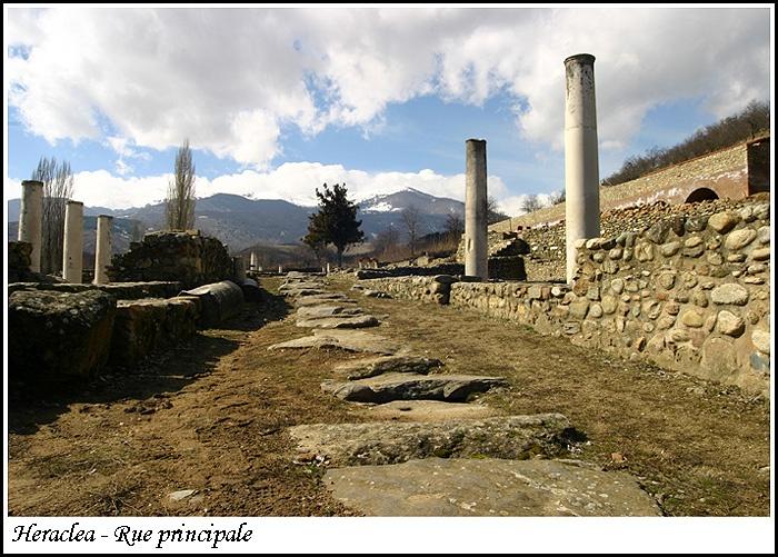 Heraclea, near Bitola, ancient city in Macedonia