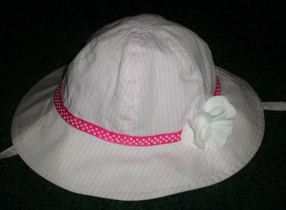 Little Girls Sun Hats  Pretty Pink Spring And by SugarBearHair
