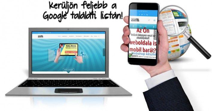 Mobil barát weboldalak előnyben lesznek a Google találati listáján