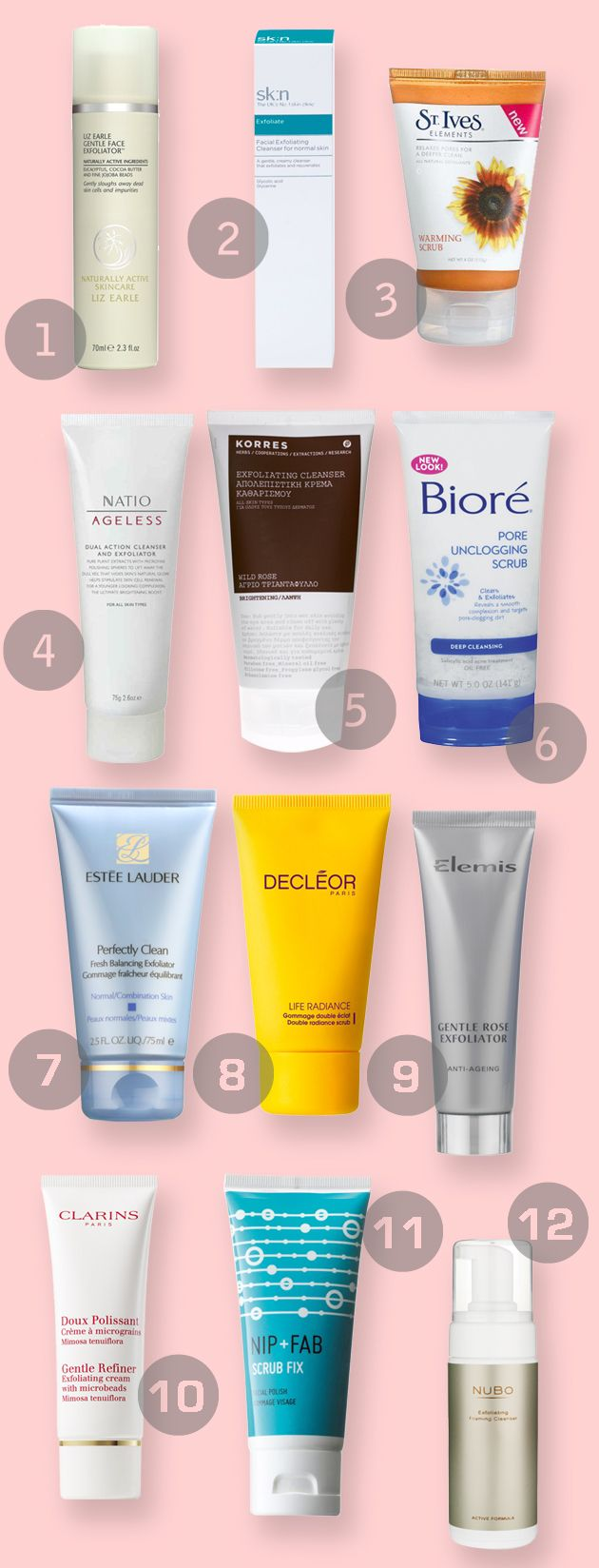 The Dirty Dozen: 12 of the best face exfoliators - Beauty And The North East
