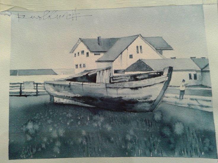 Watercolor lesson for Nikita Glechikov