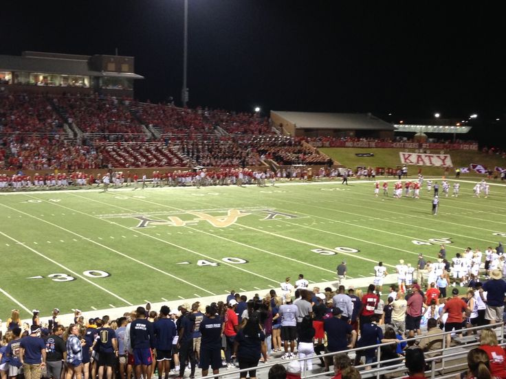Katy High School Football. Our first Friday Night Lights
