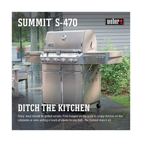 Weber Summit 7170001 S 470 Stainless Steel 580 Square Inch 48 800 Btu Liquid Propane Propane Gas Grill Propane Stainless Steel Rod