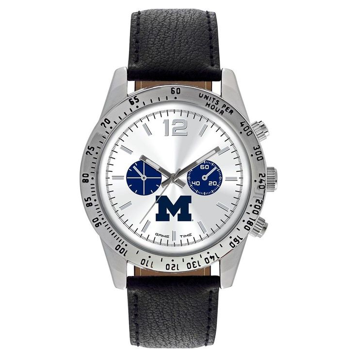 Men's Game Time NCAA Letterman Sports Watch - Black - Michigan Wolverines