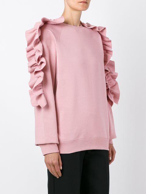 MSGM ruffle sleeve sweatshirt