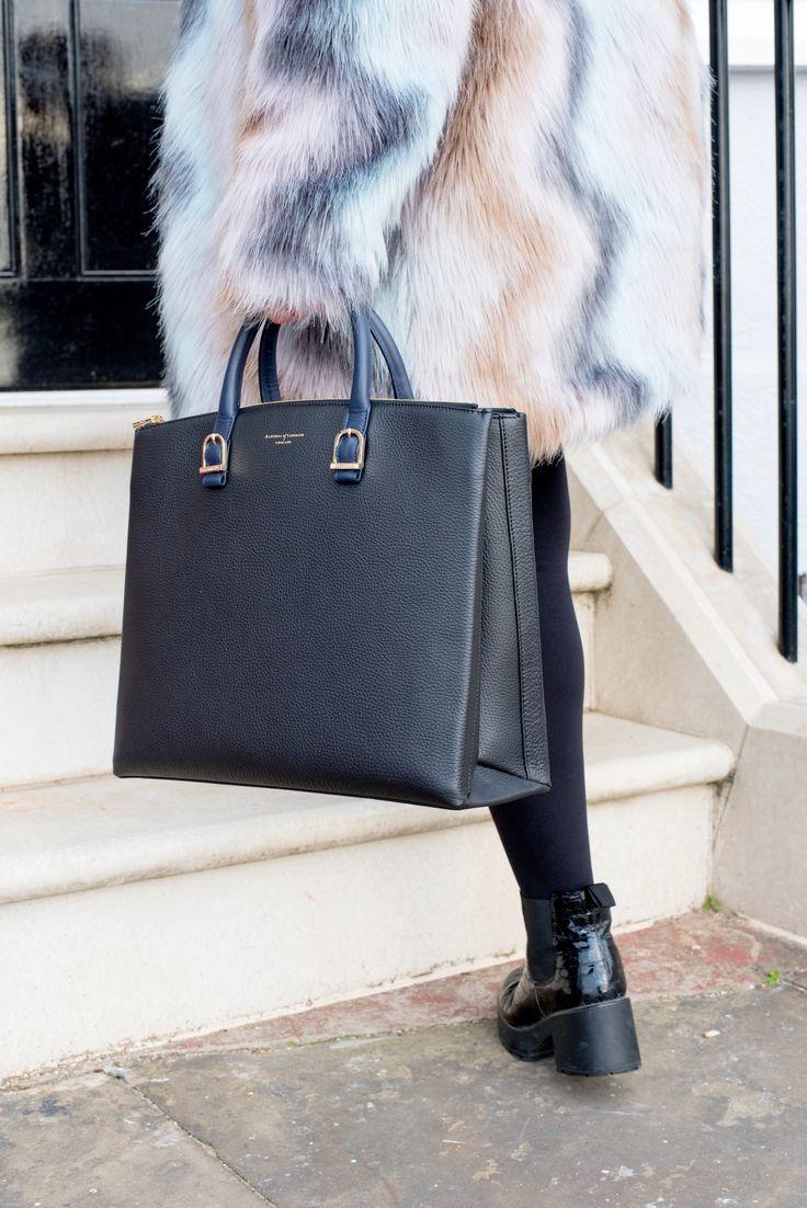 aspinal of london the editor's tote bag handbag