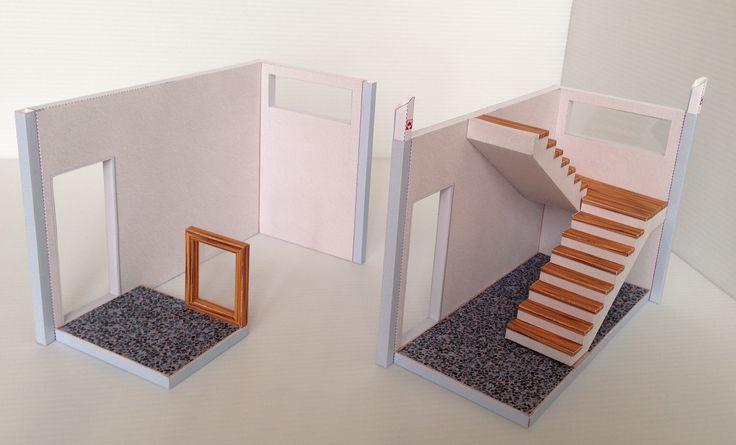 stairwell ..... st-001..... #stairwell #paper #dollhouse #ifunwoo #papercraft #miniature #pdf #handmade #maker