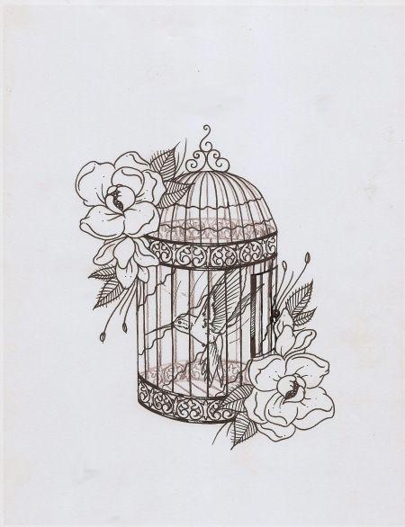 bird cage drawing | Bird Cage