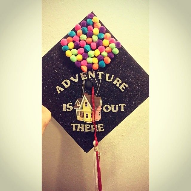 Adventure is out there -- Up Ps Juls this is going on our grad caps<3/ Clare