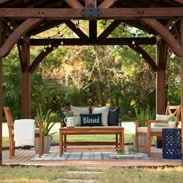 Backyard Discovery Sonora 12 ft. x 12 ft. Premium Cedar ... on Backyard Discovery Pavilion id=28596