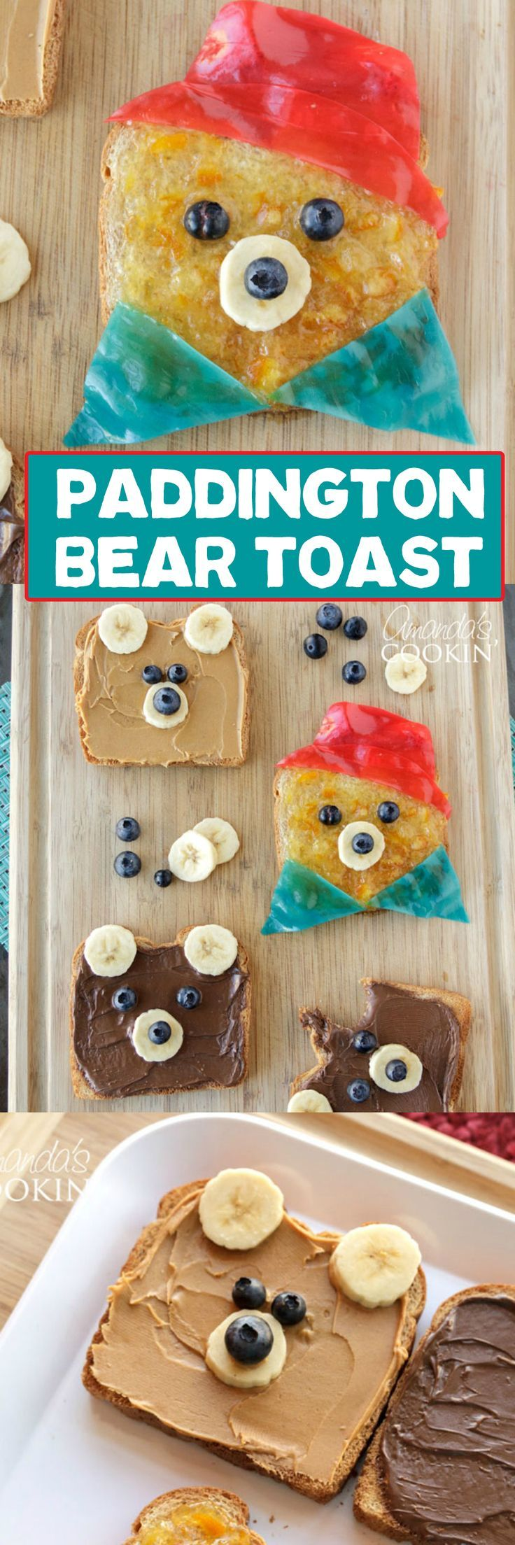 Kids will swoon over this Paddington inspired bear toast, and they will love helping make it as well! Can you think of a better way to eat your toast in the morning? #Paddington2 is in theaters January 12 - don't miss it! #sponsored