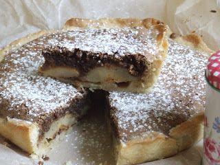 Orieškovo - čokoládový koláč s hruškami