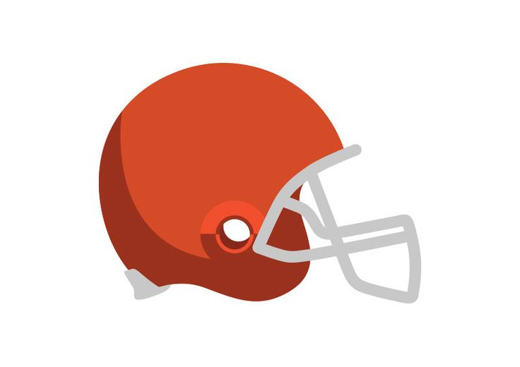American Football Helmet Flat Vector