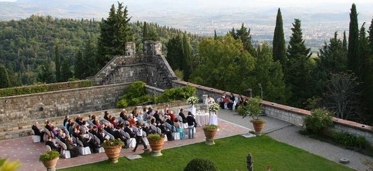 #tuscany #wedding #castle - Florence Wedding Castle 298 | Castle's garden - outdoor celebration