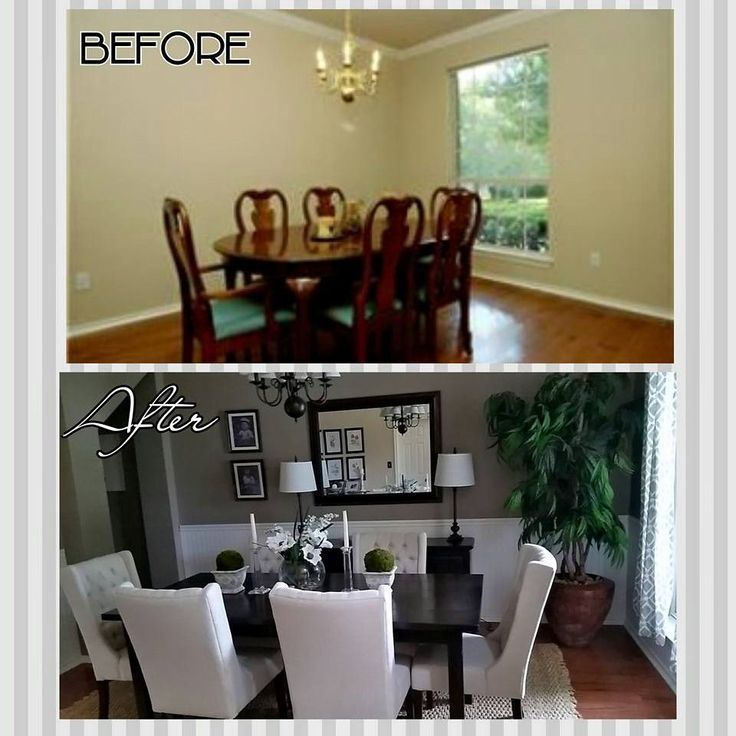 Dining Room Makeovers Formal Rooms And On Pinterest Makeover Rustic Wall Decor