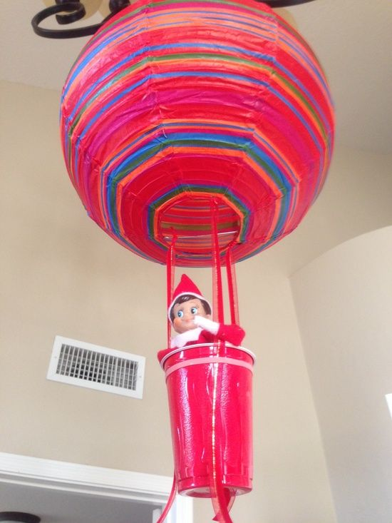 17 best images about elf on the shelf on pinterest funny for Elf on the shelf balloon ride