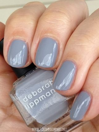 You Got Me Started, #Deborah_Lippmann - light dove grey creme #nail_polish / lacquer
