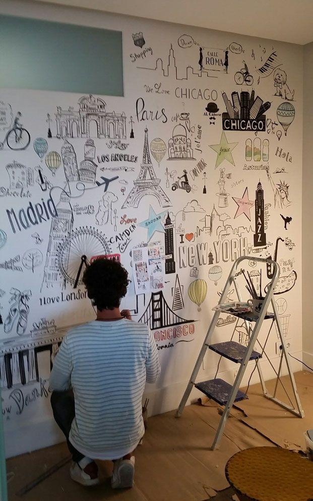 Mural Mundo | Garabato Mural
