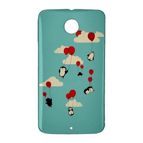 Penguins Sky Flying Balloons Google Nexus 6 Case Cover