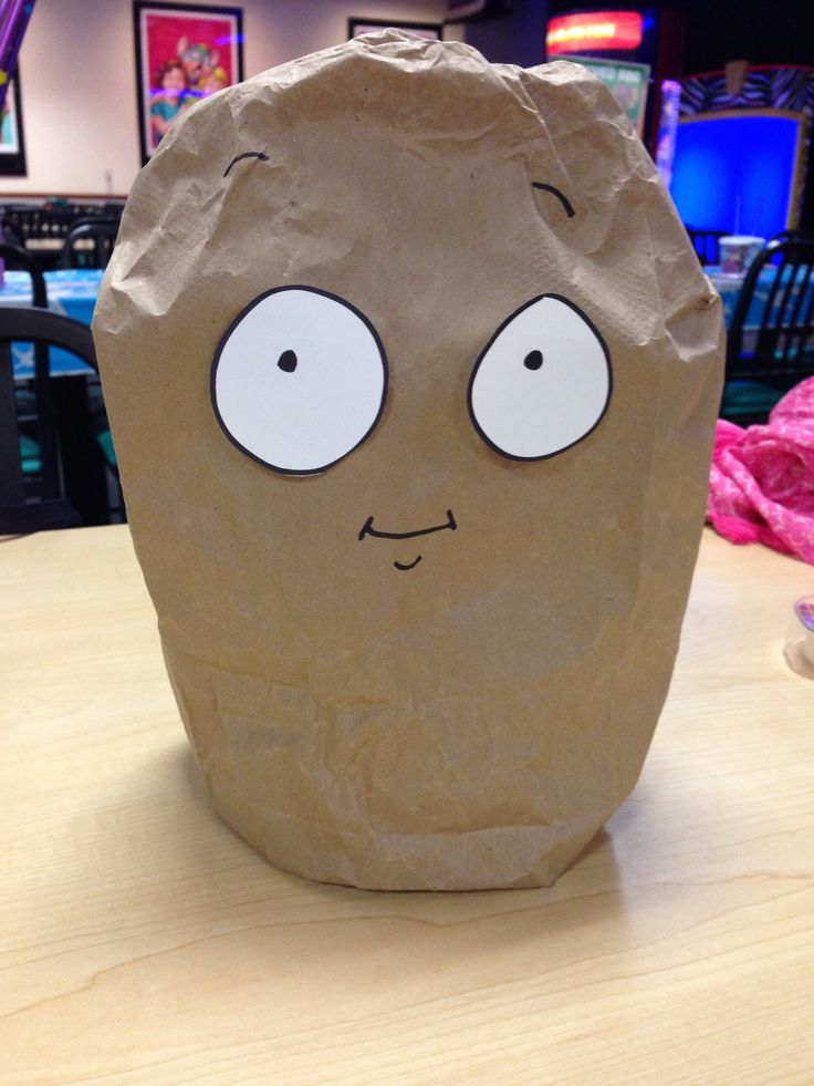 Plants vs. Zombies Wall Nut - made out of brown lunch sacks!