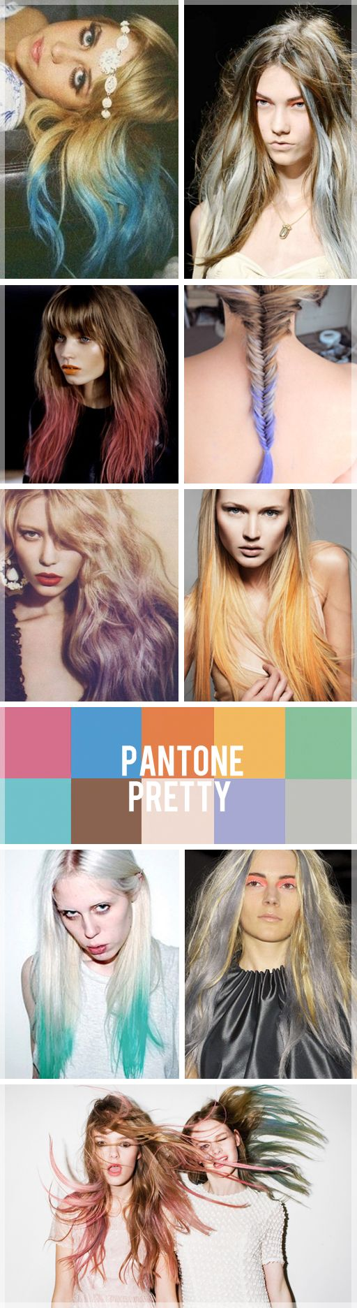 Tie dye for your hair: Dyed Hair, Hair Colors, Dips Dyed, Dips Dyes, Pastel Colors, Fishtail Braids, Hair Dye, Pastel Hair, Colors Hair