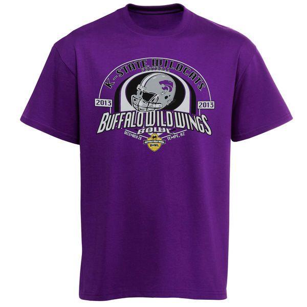 Kansas State Wildcats 2013 Buffalo Wild Wings Bowl Bound T-Shirt - Purple - $7.99