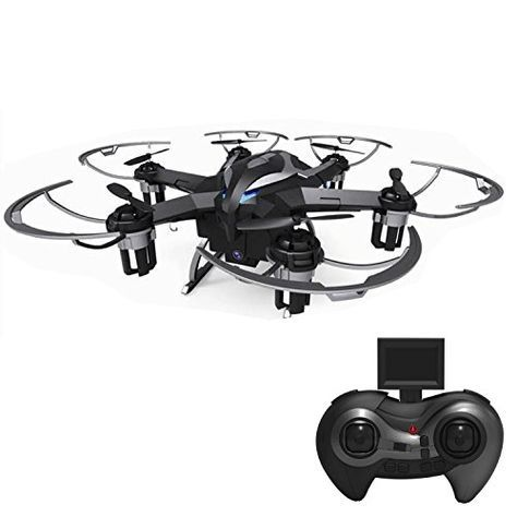 RC Quadcopter with 2MP Camera(1280x720 Pixel),4 Kind of Sensitivity Modes for any level of player,Let you can change another wany keep happy at your side. RC helicopters with camera Function:hovering/360° Flips/up/down/left/right/forward/backward The rc drone uses the 2.4GHz band signal, the operation more precise, more responsive, more distant remote control #drone