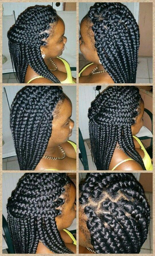 big box braid hairstyles