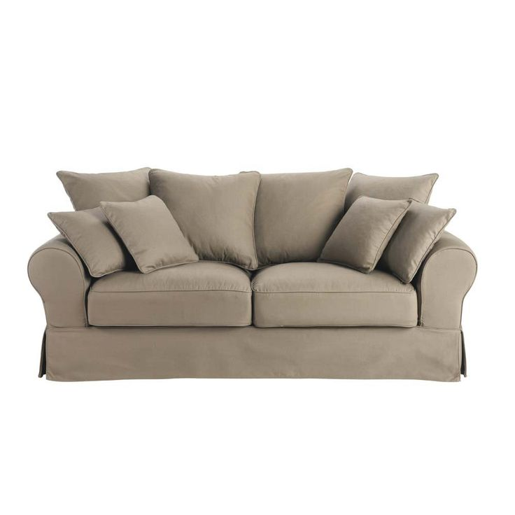 Sofa Bed 3 Seat Convertible Sofa In Taupe Bastide