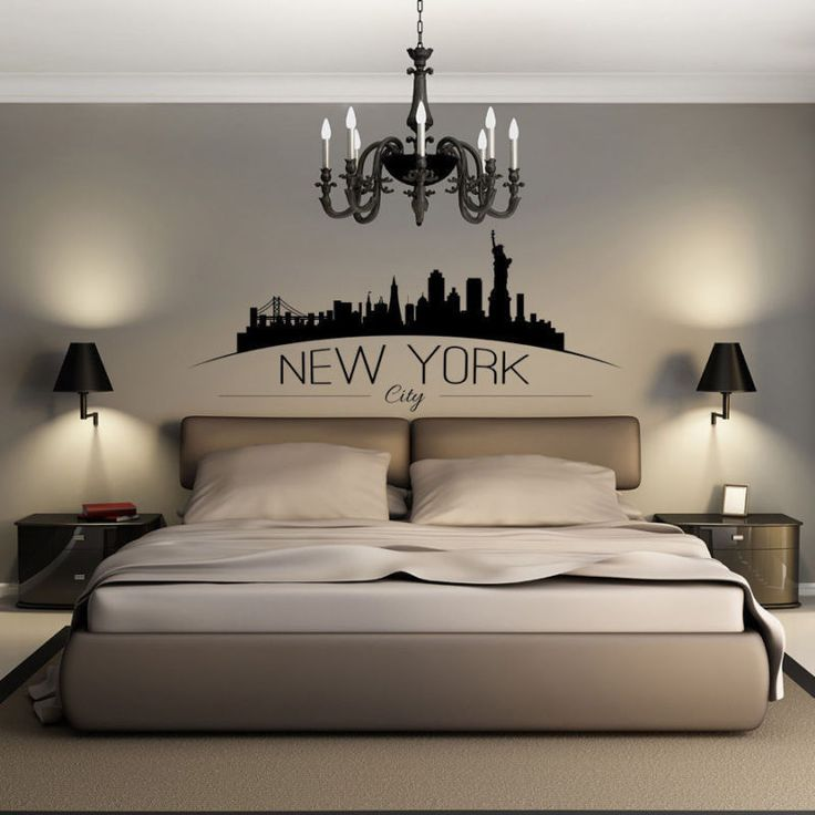 NYC America New York City Skyline Silhouette Wall Art Decal Sticker Vinyl Mural