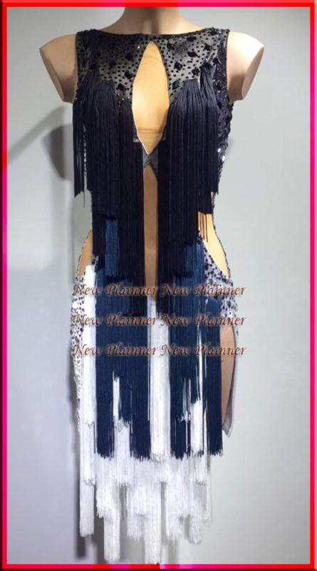 L3804 ballroom Rhythm salsa Latin samba swing dance dress US 6 Multi-Color