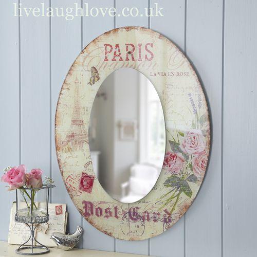 Carte Postale Oval MIRROR -Paris