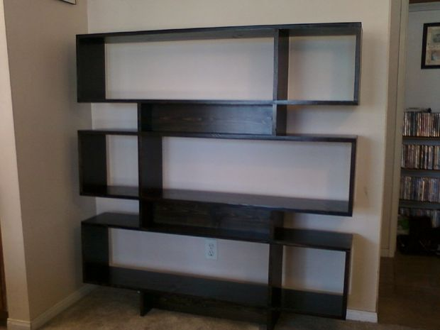 DIY modern bookshelf instructions, 50s retro style