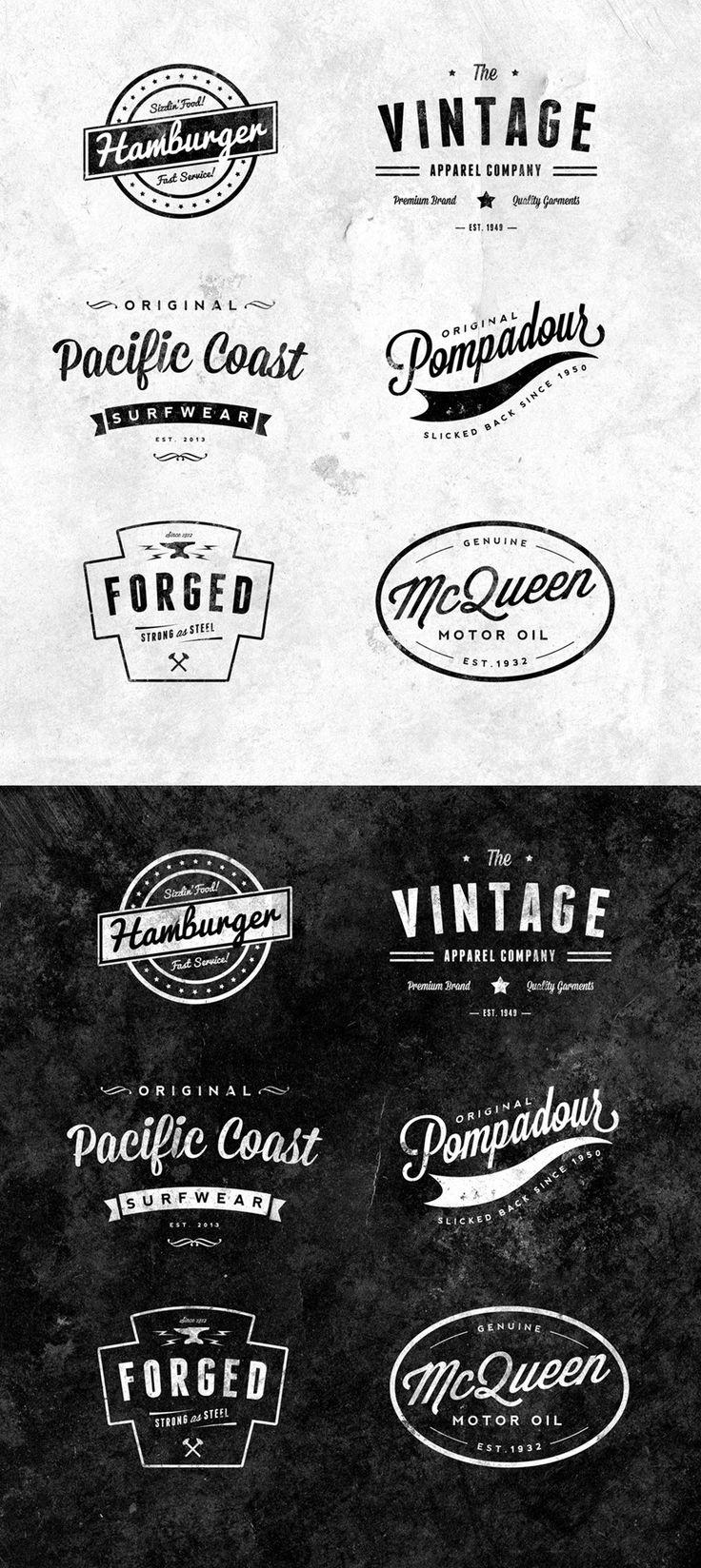 FreebiesQuest - 6 Free Customizable Retro/Vintage Logos & Emblems by Chris Spooner