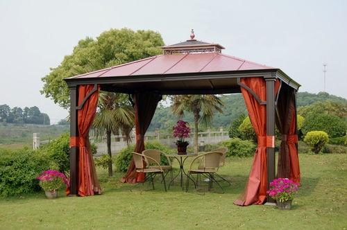love this asian style gazebo!  Aluminum Hardtop Gazebo Pavilion Red | eBay