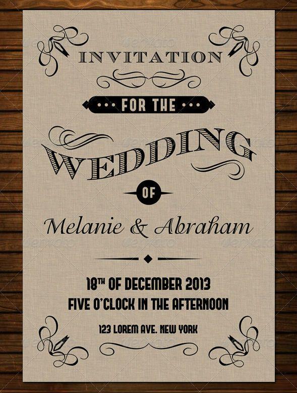 50  Best Wedding Invitation Card Print Templates for 2013 | http://www.frip.in/best-wedding-invitation-card-print-templates/