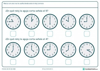 Ficha de aguja de reloj analógico | LES HORES | Pinterest