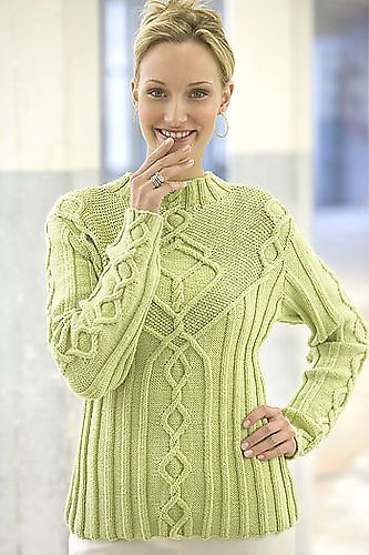 Cabled Pullover pattern by Kathy Zimmerman #knit