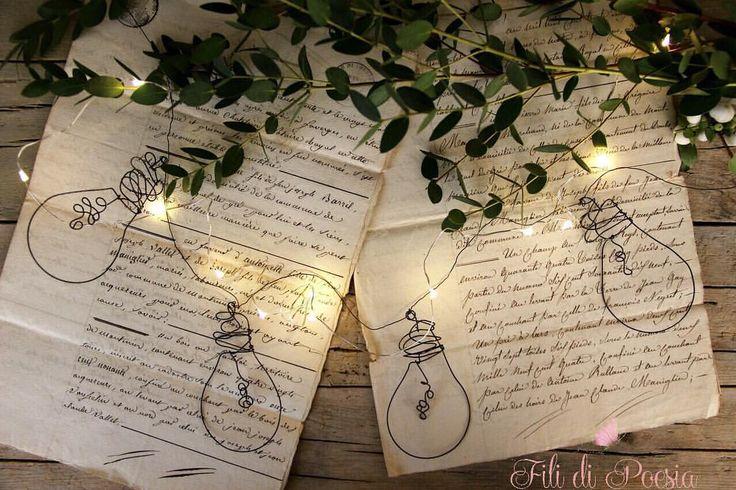 """""""Mi piace"""": 297, commenti: 28 - Daniela Corti•Wire & Textile (@filidipoesia) su Instagram: """"Un kit speciale in serie limitata per comporre la vostra ghirlanda luminosa: lampadine sì,ma in fil…"""""""