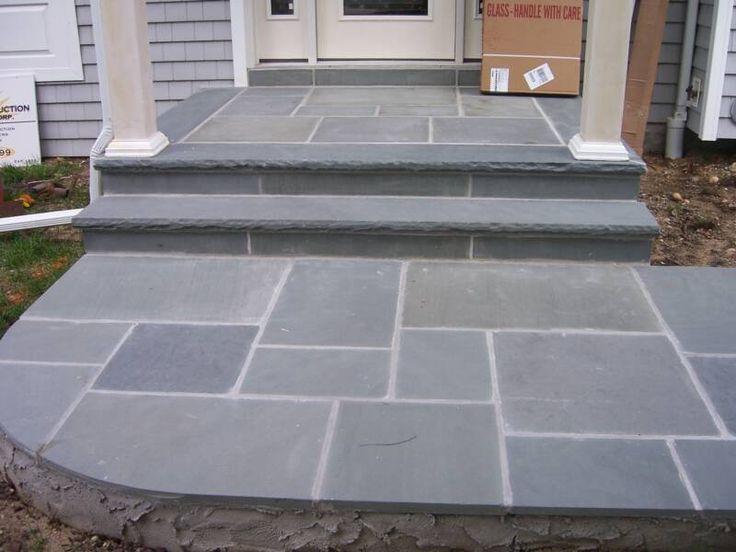 58 best porch images on pinterest stone patios front for Bluestone front porch