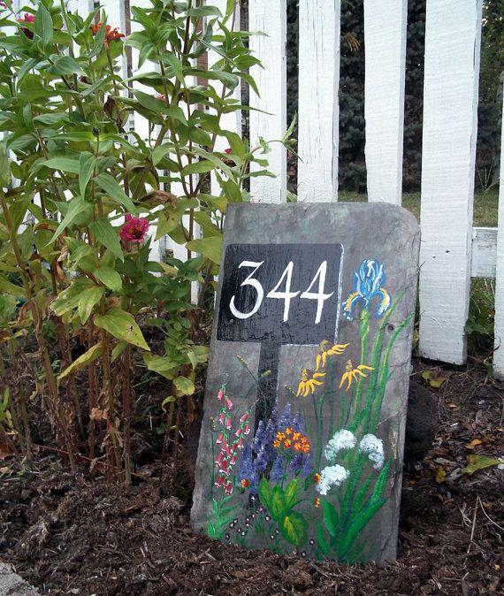 Original Garden Art on Slate Shingle