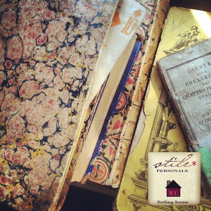 Vintage paper books