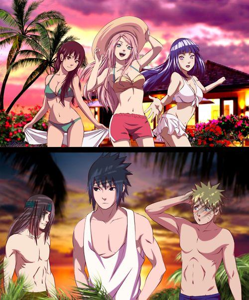 OMG. Tenten, Sakura, and Hinata are just STUNNING! (Did Sakura always have that big of a bust?)