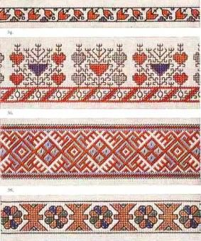 Border 91 - Chart for Yugoslavian embroidery