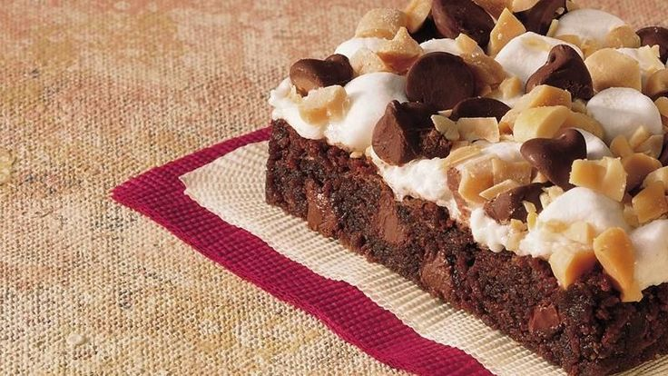 Remember old-fashioned rocky road ice cream? Get that same delicious chocolate, marshmallow and peanut taste all on a rich, fudgy brownie.