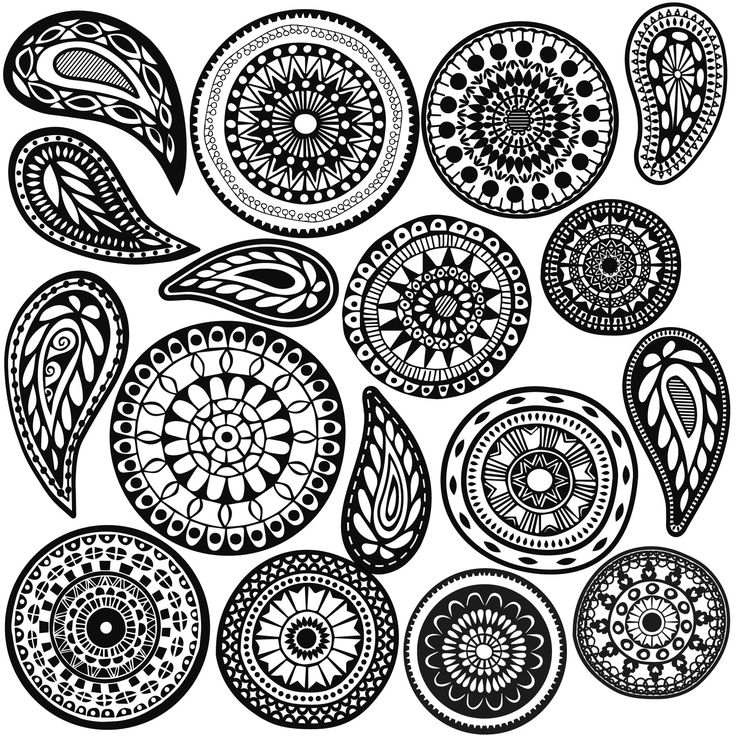 10 Boho mandala dots and 7 paisley patterned wall decals. Removable and reusable stickers are great for dorms, bedrooms and apartments and can be arranged in countless ways! Dimensions: - Mandala dots