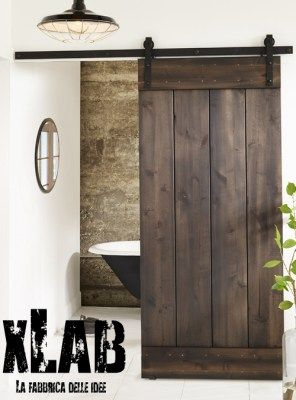 porta scorrevole in legno vintage