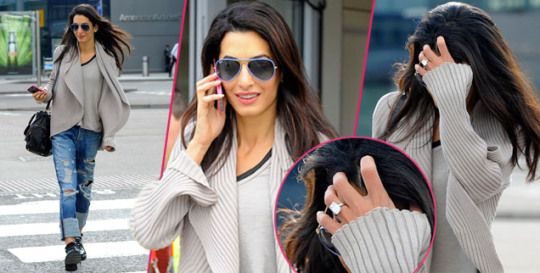 Flawless! George Clooney's Wife-To-Be Amal Alamuddin Flaunts $500,000 Engagement Ring—With 'Ethically Mined,' Super-PureRock | Radar Online